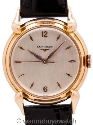 Longines 18K PG Dress Model circa 1950's