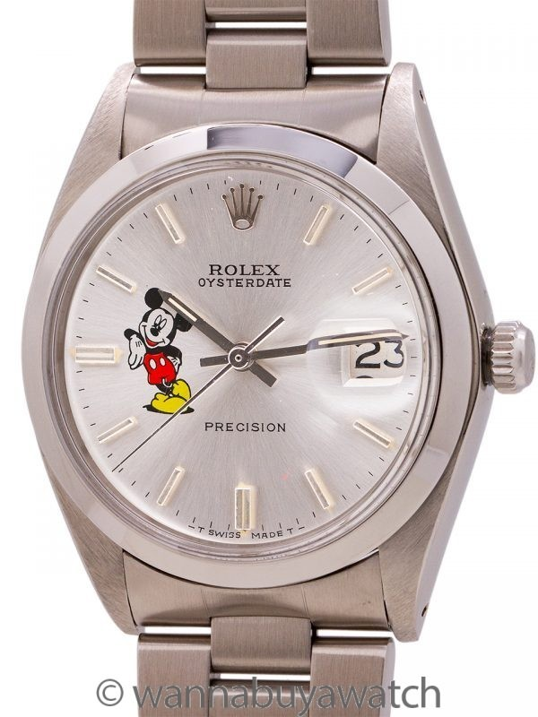 """Rolex Oyster Date Ref. 6694 """"Mickey Mouse"""" circa 1974"""