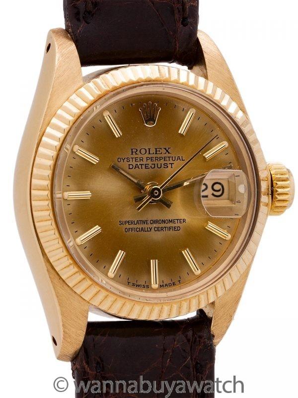 Lady Rolex Datejust ref 6917 18K YG circa 1979 Tropical