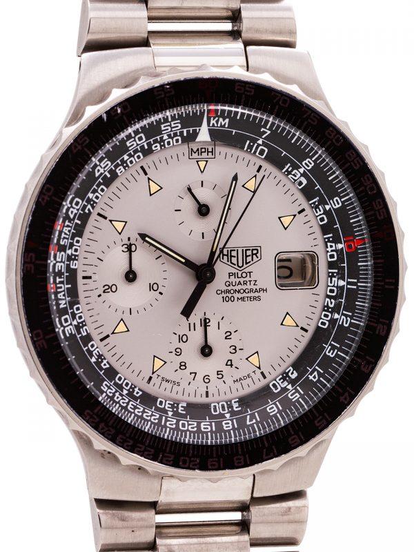 Heuer Pilot Quartz Chronograph ref. 230.006 circa 1984 w/ B & P
