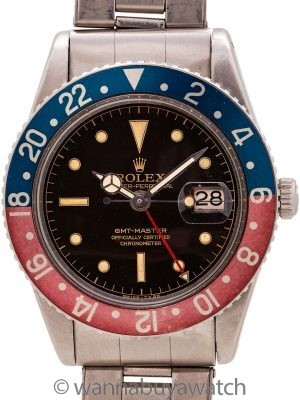 Rolex GMT Master ref. 6542 Gilt Dial circa 1957 Korean War Pilot
