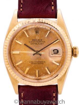 Rolex Datejust ref 1601 14K YG Tropcial Dial circa 1967