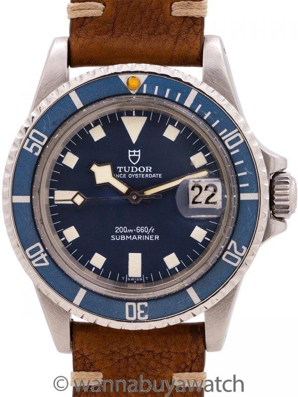"Tudor Blue ""Snowflake"" Submariner w/ Date ref# 94110 circa 1980"