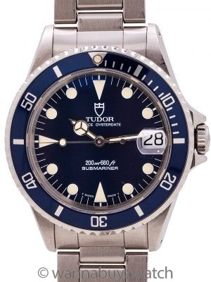 Tudor Submariner ref 75090 36mm circa 1995