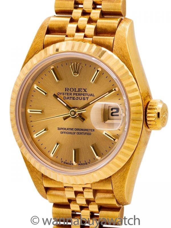 Rolex Lady Datejust 18K YG ref 69178 1993 MINT! w/ Papers