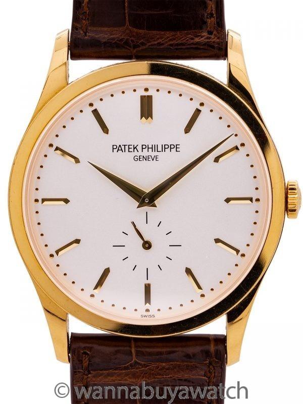 Patek Philippe 18K YG Calatrava ref 5196J circa 2000s