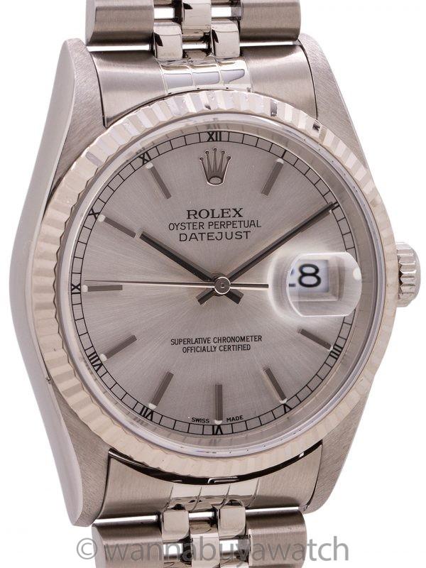 Rolex Datejust SS/18K WG ref 16234 circa 2000