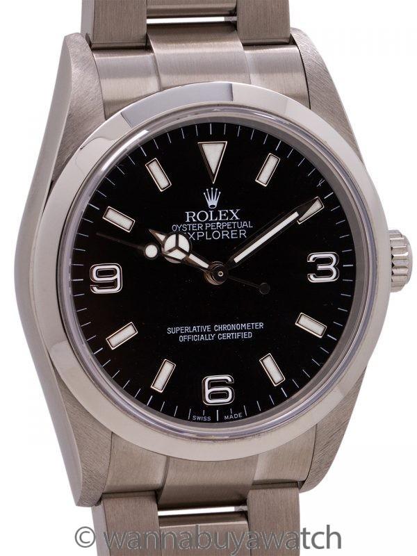 Rolex Explorer ref# 114270 circa 2002 w/ Papers