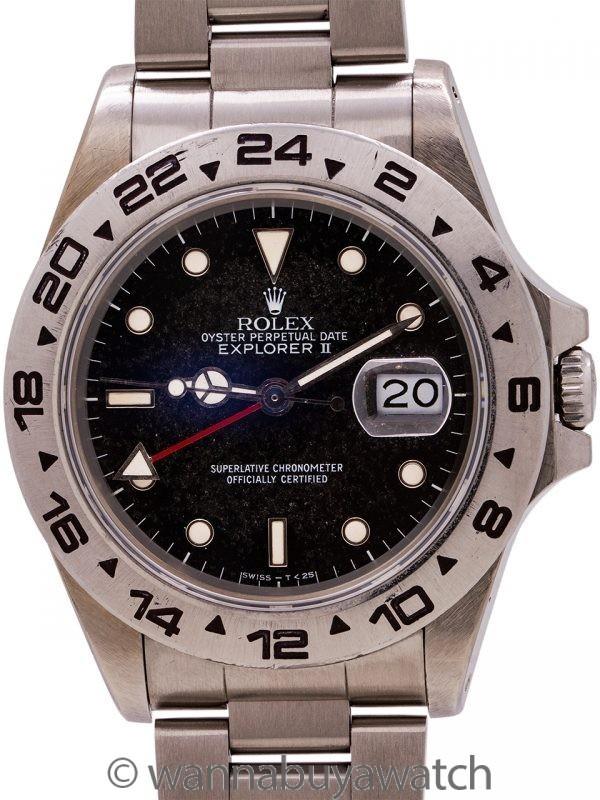 Rolex Explorer II ref 16550 Patina'd Tritium Lume Dial circa 1986