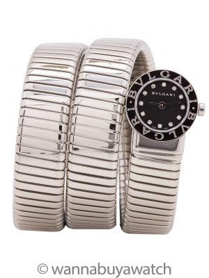 Bulgari Serpenti Bracelet Watch w/ Diamond Dial