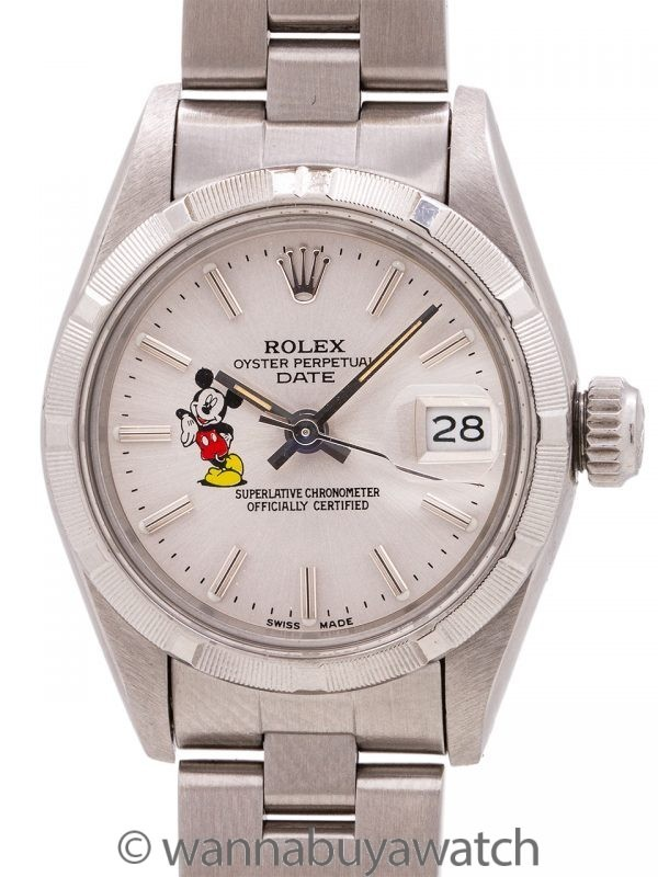 "Lady Rolex Oyster Perpetual Date ""Mickey Mouse"" ref 69190 circa 1984"