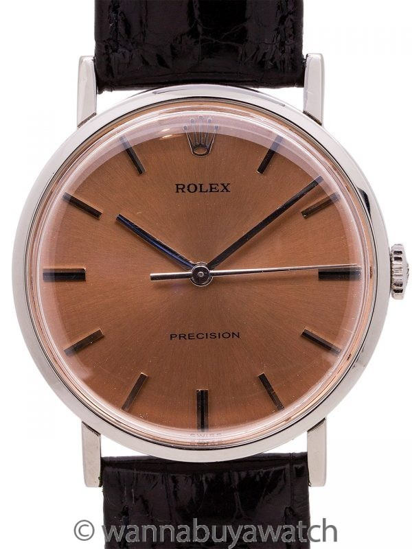 Rolex Precision Stainless Steel Dress Model ref. 34110 circa 1960's