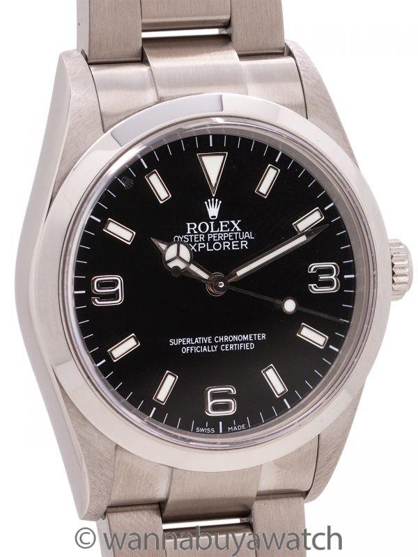 Rolex Stainless Steel Explorer 1 ref# 114270 circa 2001