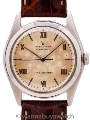 Rolex Oyster Double Signed Bucherer, Papers, Receipt and Carl Bucherer Signature circa 1946