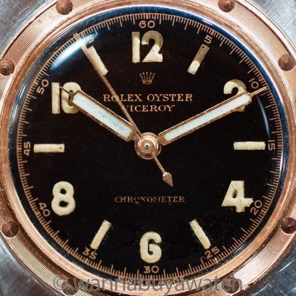 Rolex Oyster Viceroy ref 3359 SS/PG Original Black  Dial circa 1944