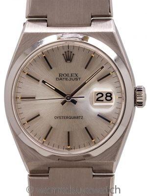 Rolex Datejust ref 17000 Stainless Steel Oyster Quartz circa 1977