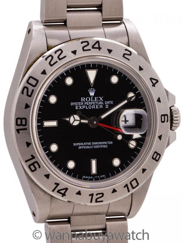 Rolex Explorer II ref 16570 Black Tritium Dial circa 1993
