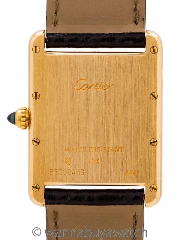 Cartier Man's 18K Gold Tank Louis ref 2441 circa 2010
