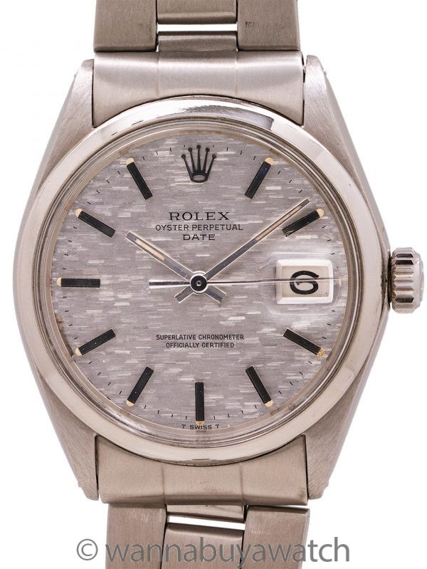 "Rolex Oyster Perpetual Date ref 1500 ""Mosaic"" Dial circa 1970"