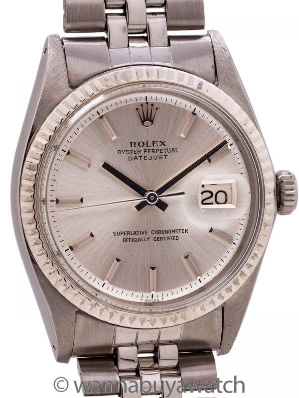 Rolex SS Datejust ref 1601 SS/14K WG circa 1970