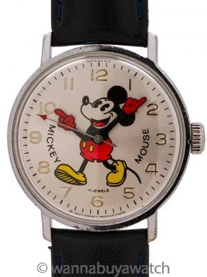 Bradley Mickey Mouse 17 Jewel circa 1970's