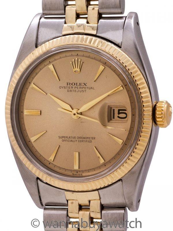 Rolex Datejust ref 6605 SS/14K YG Pie Pan Dial circa 1957