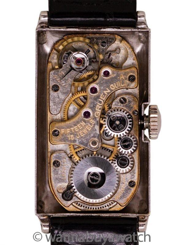 Gruen 14K WG & YG Doctor's Duo Dial circa 1930's