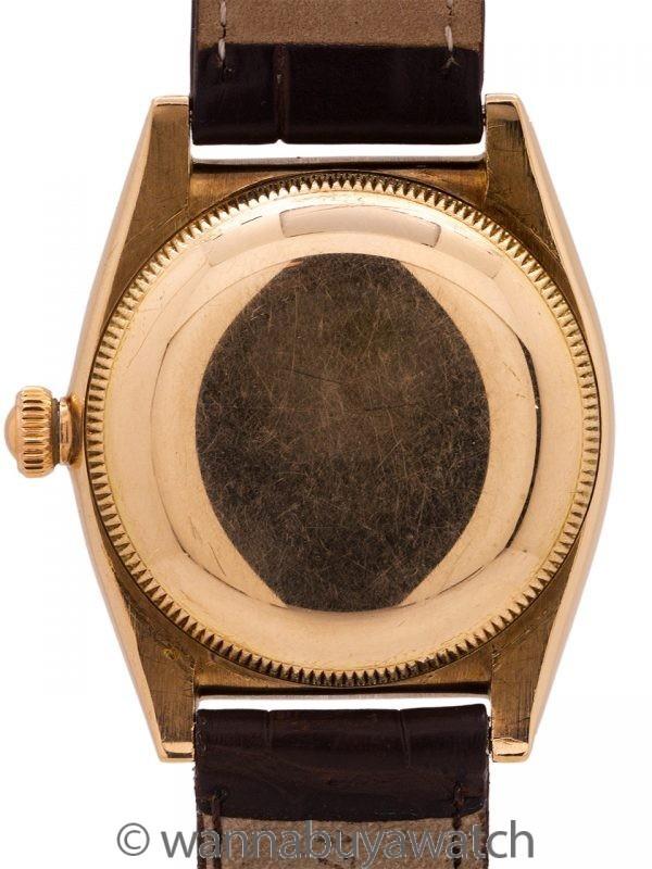 Rolex Bubbleback ref 3130 14K YG circa 1956