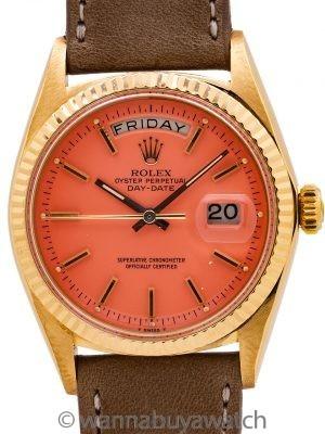 """Rolex President ref 1803 18K YG Coral """"Stella Dial"""" circa 1961"""