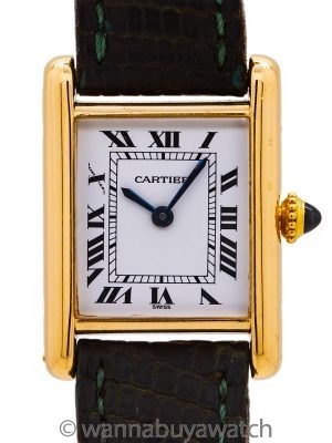 Cartier Lady's 18K Gold Tank Louis circa 2000's