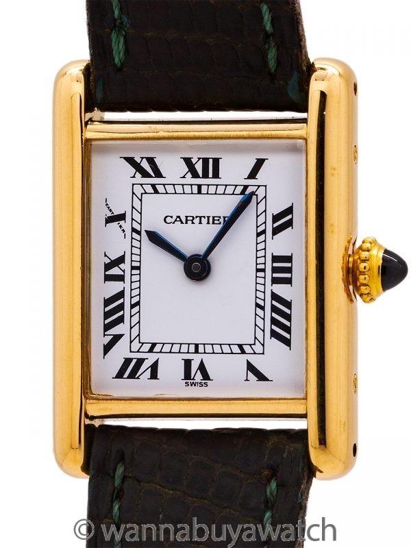 Cartier Lady's 18K Gold Tank Louis circa 2000's