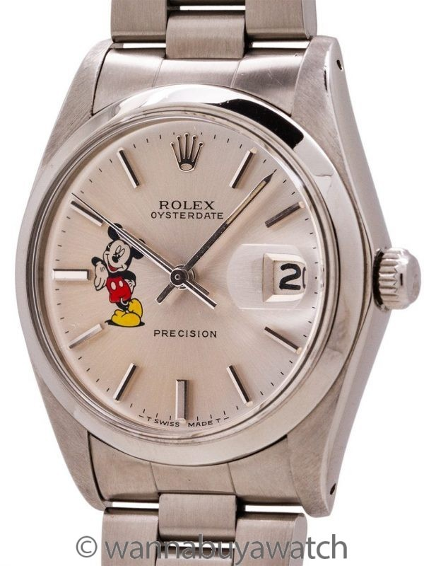 """Rolex Oyster Date Ref. 6694 """"Mickey Mouse"""" circa 1978"""