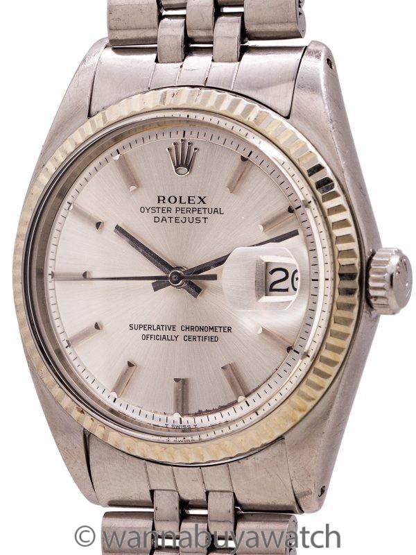 "Rolex SS Datejust ref 1601 SS/14K WG ""No Lume"" circa 1970"