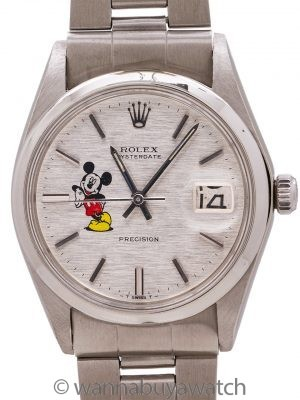 "Rolex Oyster Date ref. 6694 Linen Dial ""Mickey Mouse"" circa 1973"
