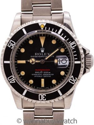 Rolex ref 1680 Red Submariner Mk IV Dial circa 1971