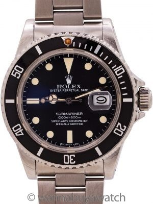 Rolex Submariner ref 16800 Matte Dial Transitional Model circa 1981