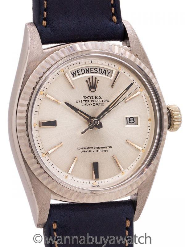 """Rolex Day Date President ref 1803 """"Door Stop Dial"""" 18K WG circa 1963"""