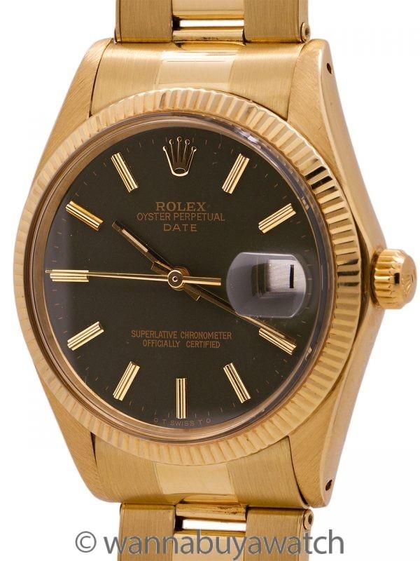 Rolex 18K YG Oyster Perpetual Date ref 1503 circa 1972