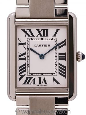 Cartier Man's Tank Solo Stainless Steel ref 3169 on Bracelet circa 2010+