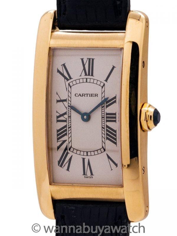 Cartier Tank American 18K YG Midsize circa 2000