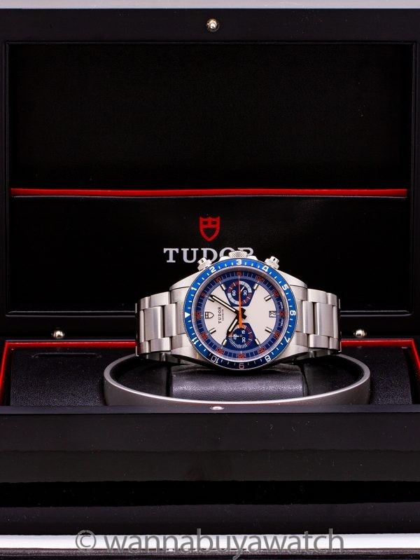 "Tudor Heritage Chronograph ""Blue"" circa 2013 Box & Papers"
