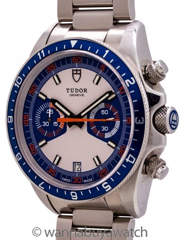 "Tudor Heritage Chronograph ""Blue"" circa 2013 Box & Papers"