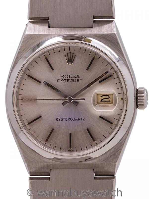 Rolex Datejust ref 17000 SS Oyster Quartz Mk 1 circa 1978