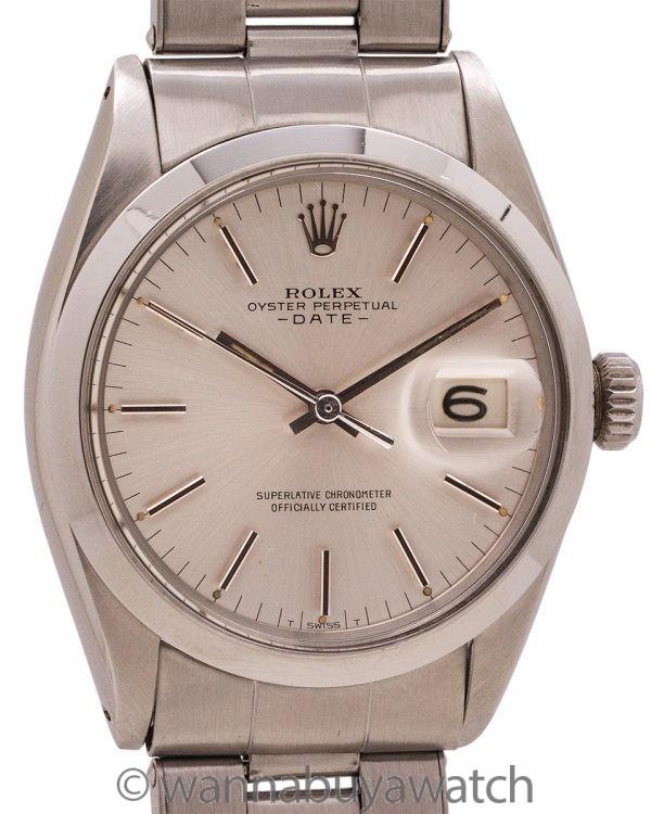 Rolex Oyster Perpetual Date ref 1500 circa 1967
