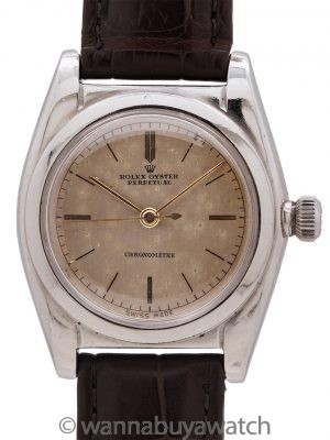Rolex SS Bubbleback retailed by Mappin & Webb circa 1937