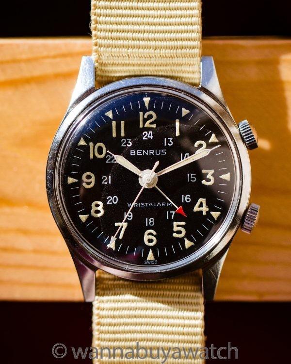 "Benrus ""Bullitt"" Wrist Alarm ref 3021 Stainless Steel circa 1960's"