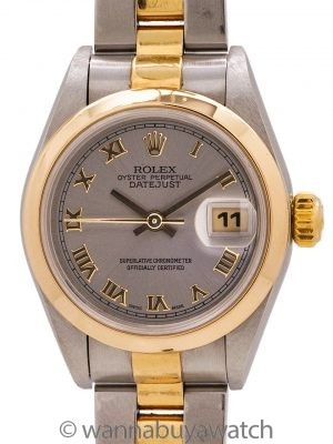 Rolex Lady Datejust SS/18K YG ref# 69163 circa 1997
