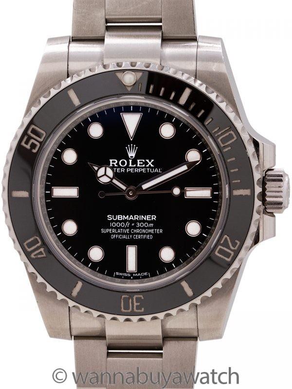 Rolex Submariner ref 114060 circa 2019 Box & Papers