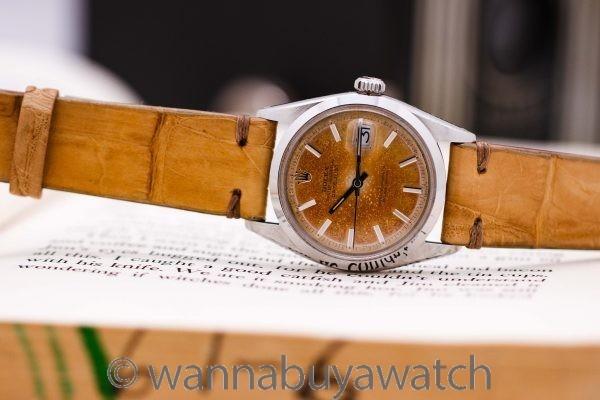 Rolex Datejust ref 1600 Smooth Bezel Tropical Dial circa 1966