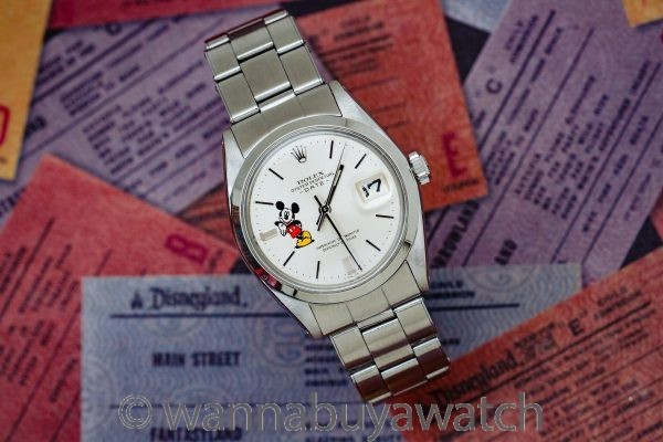 Rolex Oyster Perpetual Date ref 1500 Mickey Mouse circa 1969